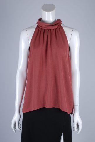Paraphrase Pink High Neck Vest Top - Size 10 - Front
