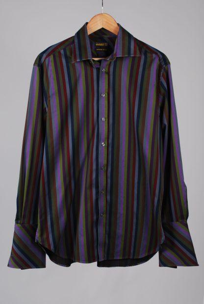 Ted Baker Vertical Stripe Shirt - Size M/L - Front