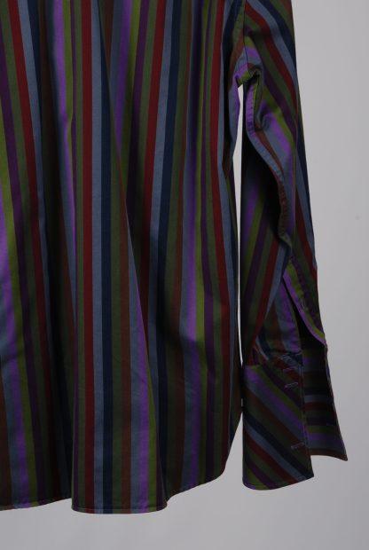 Ted Baker Vertical Stripe Shirt - Size M/L - Back Hem