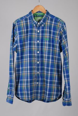 Superdry Blue Check Shirt - Size XL - Front