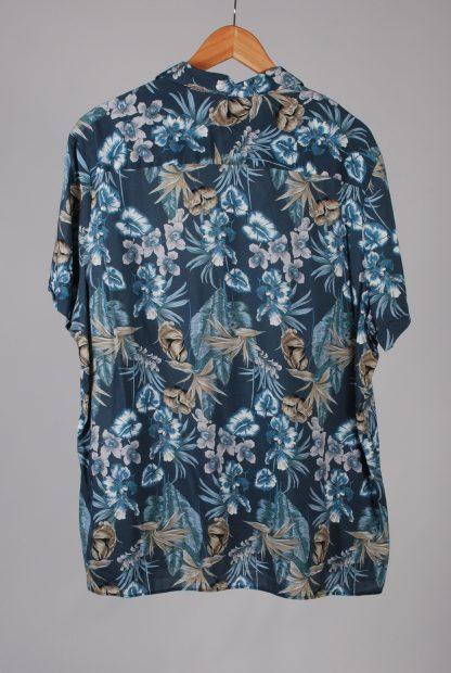 Next Blue Leaf Pattern Shirt - Size 2XL - Back