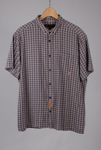 Label Lab Pink & Green Check Shirt - Size XL - Front