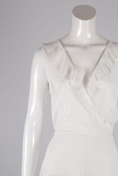 AX Paris White Plunge Maxi Dress - Size 8 - Front Detail