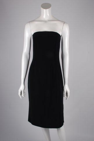Jasper Conran Black Sleeveless Dress - Size 12 - Front