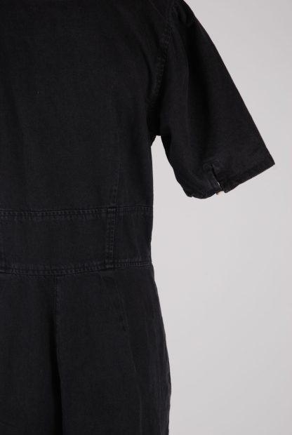 ASOS Black Distressed Denim Jumpsuit - Size 12 - Back Detail
