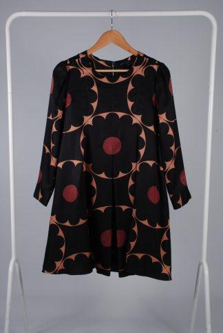 Marc Jacobs Block Floral Trapeze Dress - Size 10 - Front
