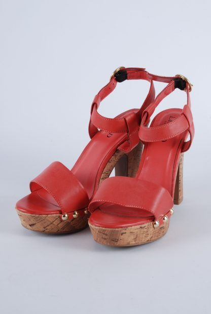 Limited Collection Red Cork Sole Sandals - Size 4.5 - Front