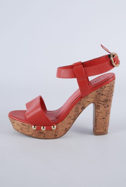 Limited Collection Red Cork Sole Sandals - Size 4.5 - Side