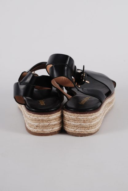 Simply Be Black Cross Toe Sandals - Size 4.5 - Back Detail