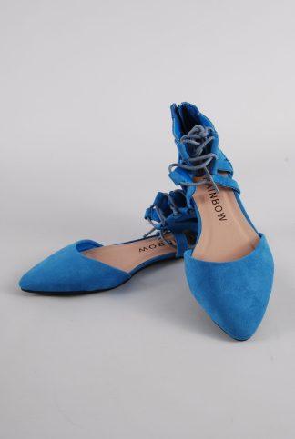 Rainbow Blue Gladiator Back Sandals - Size 4 - Front