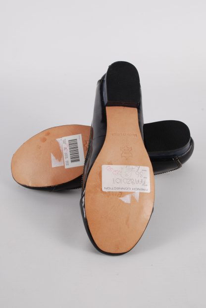French Connection Navy & Black Zip Flats - Size 3 - Sole
