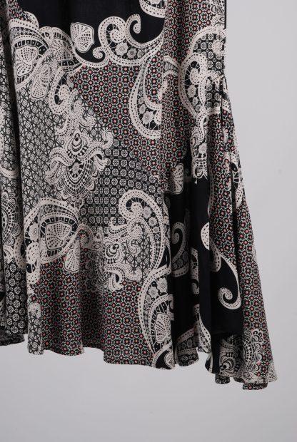 NDEH Asymmetric Hem Patterned Skirt - Size 12 - Front Hem