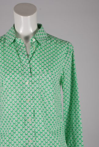 Gap White & Green Patterned Shirt - Size XS - Front Detail