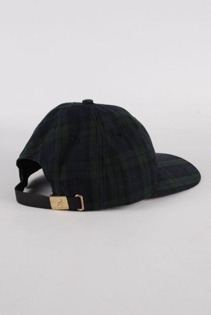 Kangol Green & Blue Tartan/Plaid Cap - Side