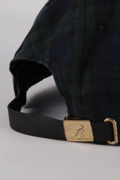 Kangol Green & Blue Tartan/Plaid Cap - Buckle