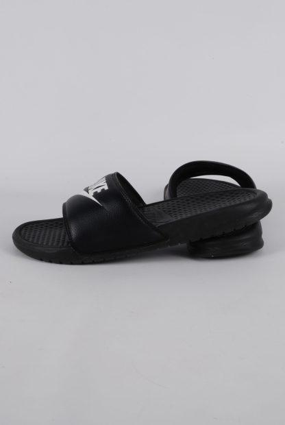 Nike Black & White Sliders - Size 8 - Side