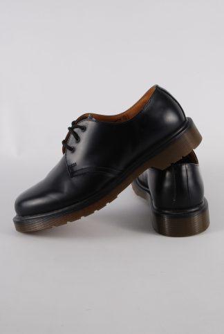 Dr Martens 1461 Black Smooth Leather Shoes - Size 7 - Side