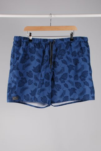 Decathlon Blue Hibiscus Print Board Shorts - Size 2XL - Front