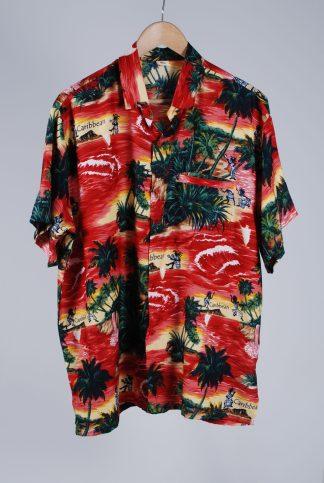 "Rima Tropical Print ""Caribbean"" Shirt - Size XL - Front"