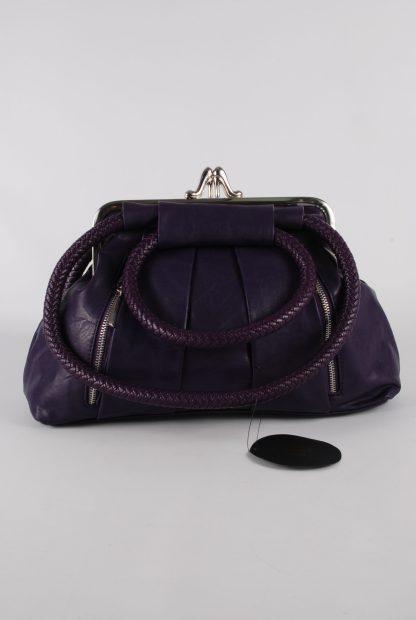 Kaur London Purple Shoe Clasp Handbag - Front
