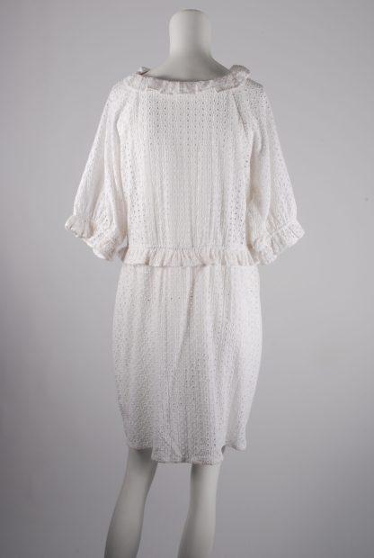 White Broderie Mini Dress - Size 16 - Back
