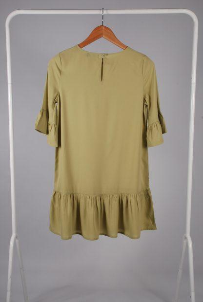 Boohoo Petite Green Frill Hem Dress - Size 8 - Back