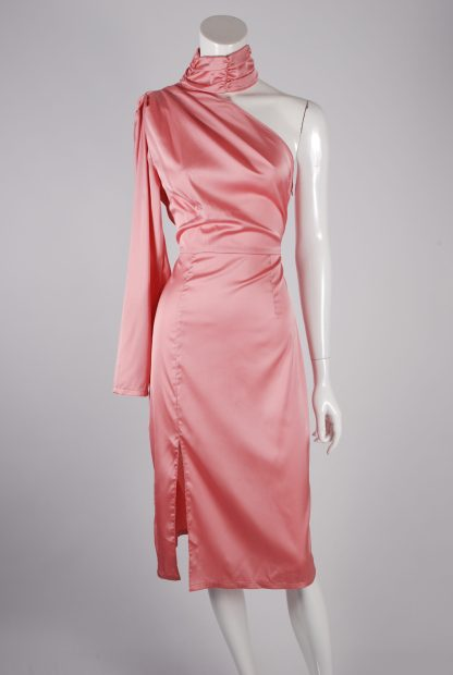 Nasty Gal Pink Dress - Size 10 - Front