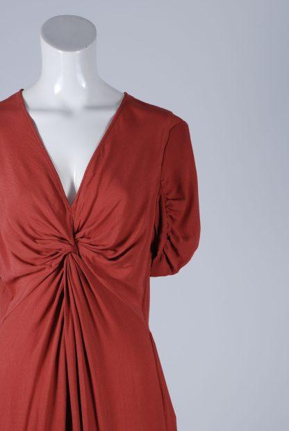 ASOS Orange Twist Jumpsuit - Size 12 - Front Detail
