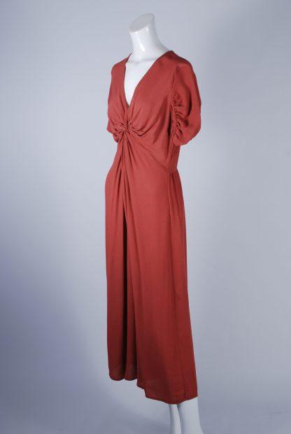ASOS Orange Twist Jumpsuit - Size 12 - Side