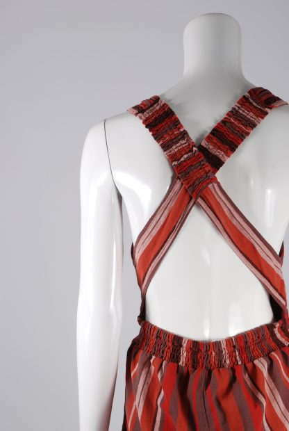 Unique Collections Red Striped Playsuit - Size 16 - Back Detail