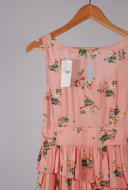 New Look Pink Floral Dress - Size 12 - Back Detail