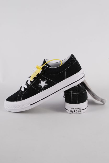 Converse All Star Black Suede Trainers - Size 7 - Side