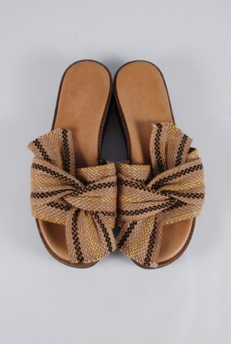 M&S Brown Bow Front Sandals - Size 4 - Front Detail