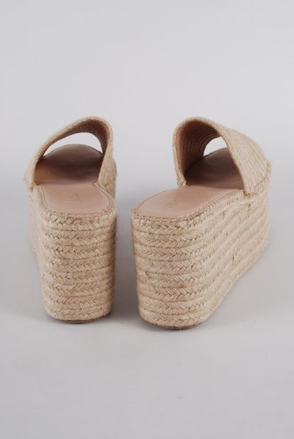 Truffle Collection Woven Platform Sandals - Size 6 - Back