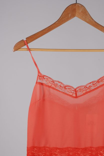 Miss Selfridge Coral Cami Top - Size 10 - Front Detail