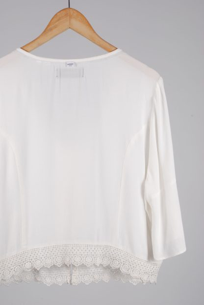 Superdry White Crop Top - Size 16 - Back Detail