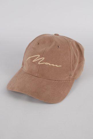 Boohoo MAN Brown Cap - Front