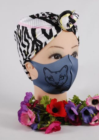 Purr-Aid 2021 Face Mask - Model Side