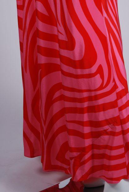 Debenhams Red & Pink Swirl Maxi Dress - Size 12 - Side Hem