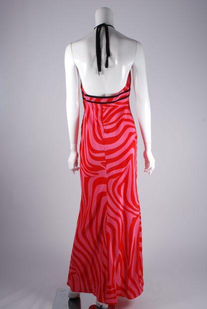 Debenhams Red & Pink Swirl Maxi Dress - Size 12 - Back