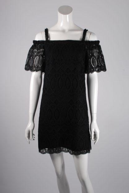 White House Black Market Lace Mini Dress - Size 10 - Front