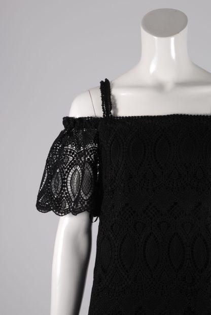 White House Black Market Lace Mini Dress - Size 10 - Front Detail