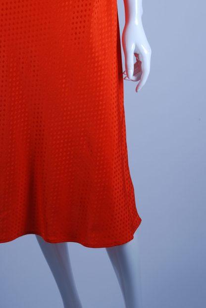 M&S Orange Tonal Polka Dot Dress - Size 14 - Front Hem