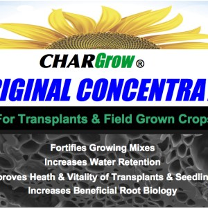 Chargrow Concentrate product label, for transplants and crops