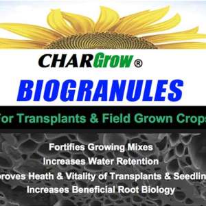 CharGrow BioGranules product lable