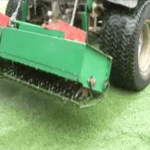 golf turf core aeration
