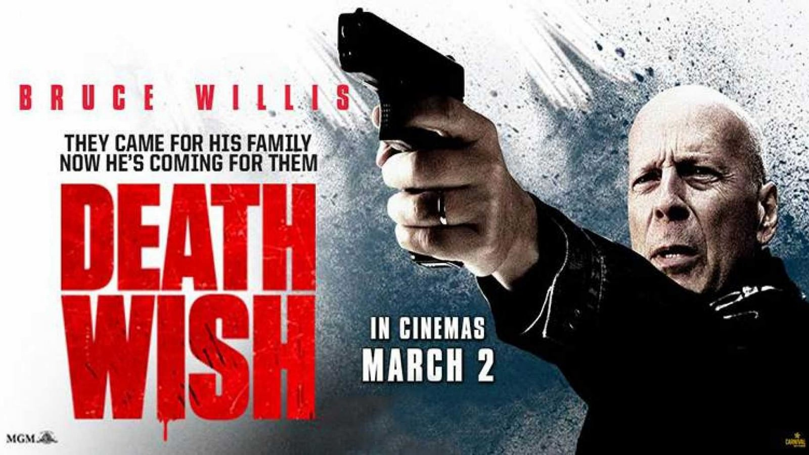 Movie, Death Wish(美國) / 猛龍怪客(台) / 虎膽追兇(港), 電影海報, 美國, 橫版