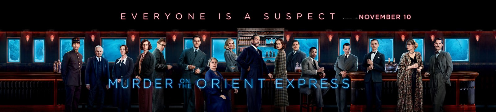 Movie, Murder on the Orient Express(美國, 2017) / 東方快車謀殺案(台灣.香港) / 东方快车谋杀案(中國), 電影海報, 美國, 橫版