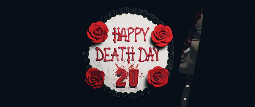 Movie, Happy Death Day 2U(美國, 2019年) / 祝你忌日快樂(台灣) / 死亡無限2次LOOP(香港) / 忌日快乐2(網路), 電影海報, 美國, 橫版