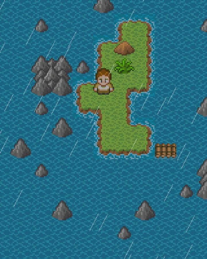 手機遊戲, 無人島大冒險1, 雨中花島
